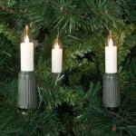 LED-Weihnachtsbaumkette, klar/elfenbein, 15 x E14/3V/0, 1W, mit teilbarem Stecker, IP44