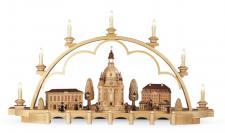 Müller-Kleinkunst aus dem Erzgebirge® seit 1899 Schwibbogen Alt Dresden, mittelgroß, natur