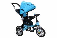 Miweba Kinderdreirad, Kinderbuggy, Kinderwagen, Schieber 7 in 1 blau