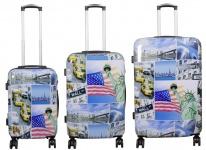Kofferset 3tlg Reisekoffer Polycarbonat Hartschale New York3