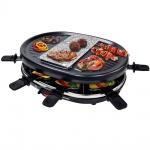 Syntrox Raclette mit Grill und Heißer Stein für 8 Personen
