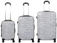 Kofferset 3tlg Reisekoffer Polycarbonat Hartschale City Stadt