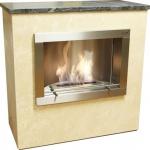 Standkamin Feuerstelle Kamin 105x100 cm Antikmarmor beige WK-04