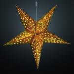 LED-Weihnachtsstern, Durchmesser 60 cm, warmweiß/gold