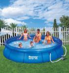 Fast Set Pool transparent-blau, inkl. Pumpe, 366 x 76 cm