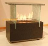 Standkamin Kamin Feuerstelle fahrbar 72x75 cm Granit WK-05GNA