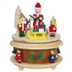 Spieluhr, Holz natur, Weihnachtsmann,