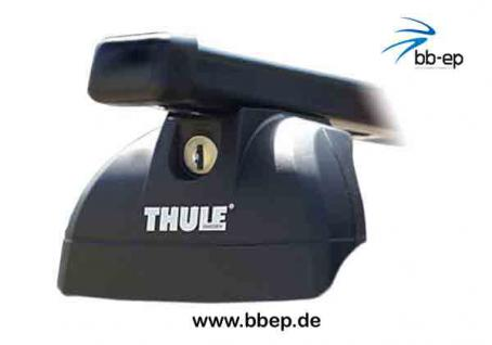Thule Stahldachträger 90433542 Komplett System inkl. Schloss für KIA Carens mit integrierter Dachreling - inkl. 1 l Kroon Oil ScreenWash