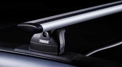 Thule Alu-Dachträger 90434994 mit neuer WingBar Traverse Komplet System inkl. Schloss für DAIHATSU Terios mit integrierter Dachreling - inkl. 1 l Kroon Oil ScreenWash - Vorschau 4