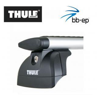 Thule Alu-Dachträger 90435201 mit neuer WingBar Traverse Komplet System inkl. Schloss für OPEL Combo mit Fixpunkten - inkl. 1 l Kroon Oil ScreenWash