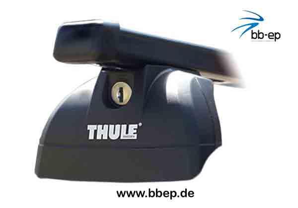 inkl Schloss f/ür Audi A4 Avant mit integrierter Dachreling Thule Stahldachtr/äger 90433585 Komplett System inkl 1 l Kroon Oil ScreenWash