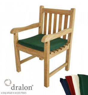Sesselsitzauflage aus hochwertigem Dralon 4 cm dick von Kai Wiechmann® / Auflage für Sessel/ Stuhl/ Klappstuhl als Sesselauflage/ Stuhlauflage/ Polster/ Gartenmöbel/ Klappstuhlauflage oder Kissen