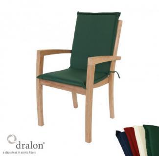 Stapelstuhlauflage aus hochwertigem Dralon 4 cm dick von Kai Wiechmann® / Auflage für Sessel/ Klappstuhl/ Polster/ Kissen/ Gartenmöbel