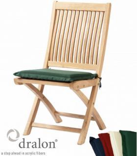 Sitzauflage aus hochwertigem Dralon 4 cm dick von Kai Wiechmann® / Auflage für Sessel/ Stuhl/ Klappstuhl als Sesselauflage/ Polster/ Gartenmöbel/ Stuhlauflage/ Klappstuhlauflage oder Kissen