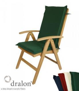 Hochlehnerauflage aus hochwertigem Dralon 6 cm dick von Kai Wiechmann® / Auflage für Sessel oder Stuhl mit hoher Rückenlehne/ Polster/ Kissen/ Gartenmöbel - Vorschau