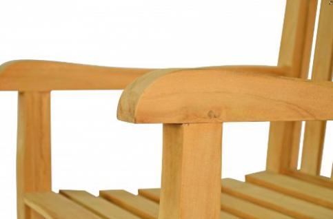 """Massiver Sessel aus der Serie """"Andorra"""" hochwertig gefertigt aus Teakholz mit Armlehne und Rückenlehne von Kai Wiechmann® / Stuhl/ Gartenstuhl/ Gartenmöbel/ Gartensessel/ Teak-Sessel - Vorschau 2"""