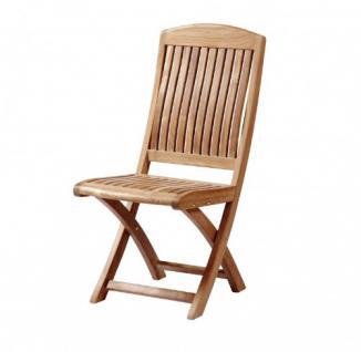 """Eleganter Klappstuhl aus der Premium-Serie """"Brighton"""" gefertigt aus Teakholz ohne Armlehne von Kai Wiechmann®/ perfekte ergonomische Rücken- und Sitzfläche/ Sessel/ Stuhl/ Gartenstuhl/ Gartenklappstuhl/ Premium- Qualität"""
