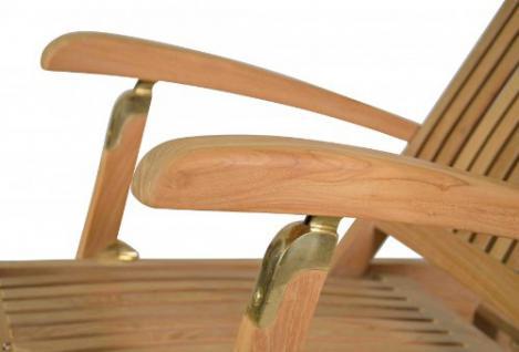 """Eleganter Deckchair aus der Premium-Serie """"Brighton"""" gefertigt aus Teakholz mit Rad Kai Wiechmann® / massiv/ Liege/ Sonnenliege/ Liegestuhl/ Gartenliege/ Gartenmöbel/ Holz-Liege/ Teak-Liege/ klappbar/ zusammenklappbar/ Premium-Qualität - Vorschau 4"""