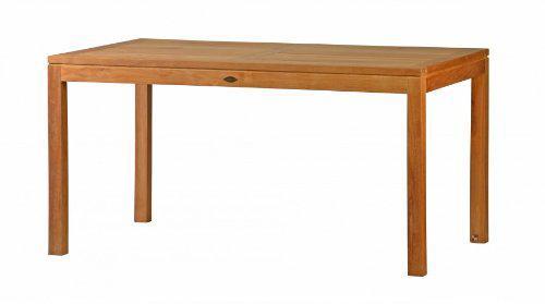 """Moderner Design Gartentisch aus der Premium-Serie """"Notting Hill"""" gefertigt aus Teakholz 150x90 cm von Kai Wiechmann® / Teak-Tisch/ massiv/ Esstisch/ quadratisch/ Premium-Qualität"""