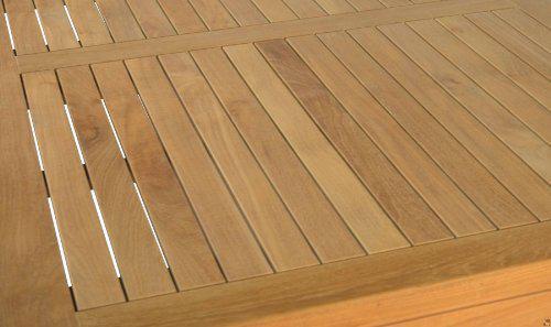 """Moderner Design Gartentisch aus der Premium-Serie """"Notting Hill"""" gefertigt aus Teakholz 180x90 cm von Kai Wiechmann® / Teak-Tisch/ massiv/ Esstisch/ quadratisch/ Premium-Qualität - Vorschau 2"""