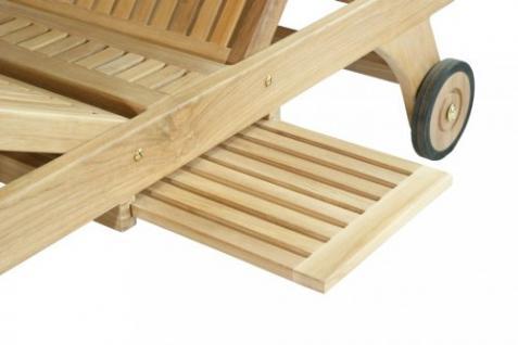 """Elegante Gartenliege aus der Premium-Serie """"Brighton"""" gefertigt aus Teakholz mit Rad von Kai Wiechmann® / massiv/ Liege/ Sonnenliege/ Liegestuhl/ Gartenmöbel/ Holz-Liege/ Teak-Liege/ Premium-Qualität - Vorschau 3"""