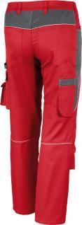 Bundhose Pro Serie MG 245 rot/grau - Vorschau 2