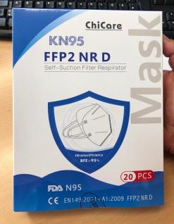 Atemschutzmaske FFP2 KN 95 VPE a'20 Stck