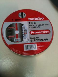 Metabo Trennscheiben Set 125x1,0mm a'10 Stück