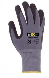 texxor Nylon-Strickhandschuhe black touch mit PU-Schichtung Größe 09