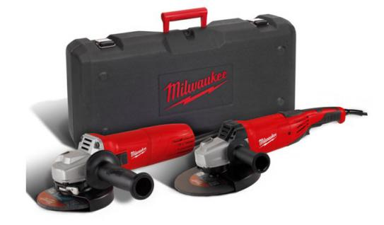 Milwaukee Winkelschleifer-Set AG 22-230 E + AG 1000-125 EK Combo Kit