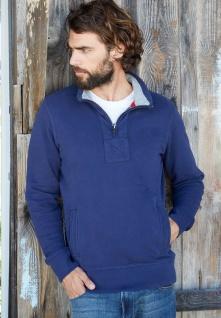Kariban Herren Vintage Sweatshirt mit 1/4 Reißverschluss