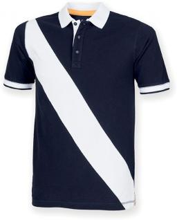 Front Row Diagonal Stripe Men's Polo Shirt