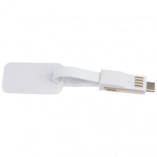 MACMA USB 3 in 1 Ladekabel mit Anhänger aus Kunststoff