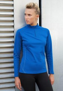 PRO ACT Damen-Laufsweatshirt mit 1/4-Reißverschluss