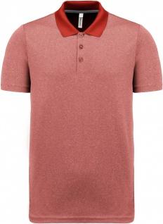 Proact Meliertes Kurzarm-Polohemd für Erwachsene