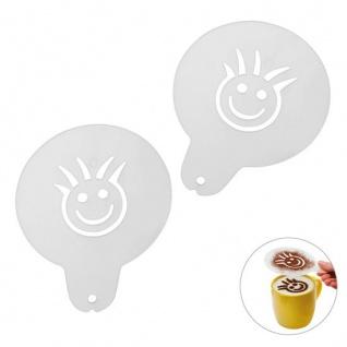 Cappuccino-Schablone Caraldo Gesicht 100 Stück Maße: ca. 97 x 124 x 1 mm