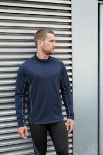PRO ACT Herren-Laufsweatshirt mit 1/4-Reißverschluss