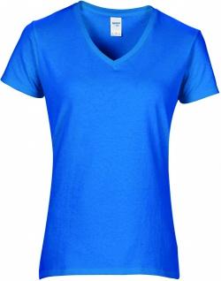 Gildan Premium Damen T-Shirt, V-Ausschnitt