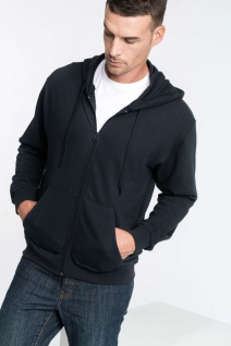 Kariban Kapuzensweatshirt mit Reißverschluss