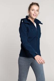Kariban Damen Softshell-Jacke mit Abnehmbare Kapuze