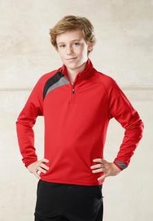 PRO ACT Kinder Trainings-Sweatshirt mit 1/4 Reissverschluss-Kragen