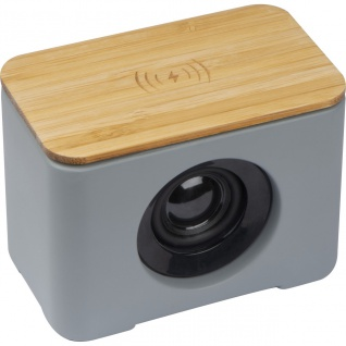 MACMA Bluetooth Lautsprecher mit integriertem Wireless Charger