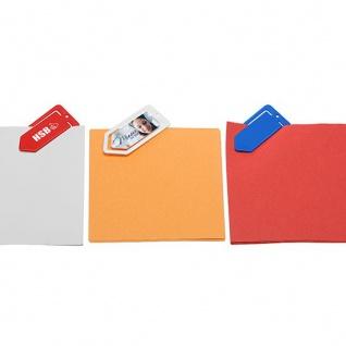 Zettelklammer mini Caraldo 100 Stück Maße: ca. 25 x 54 x 1 mm