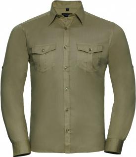 Russell Men's Roll Sleeve Shirt Long Sleeve