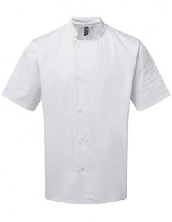 Premier Workwear Essential Short Sleeve Chefs Jacket