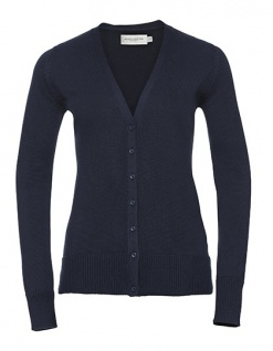 Russell Collection Ladies` V-Neck Knitted Cardigan
