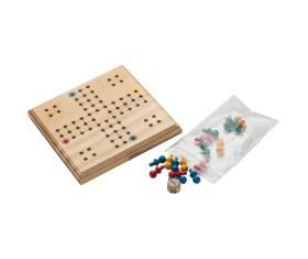Macma LUDO Spiel aus Holz 12x12x1, 1 cm VE 50 Stück