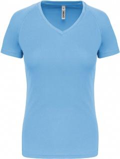 Proact Damen Kurzarm-Sportshirt Mit V-Ausschnitt