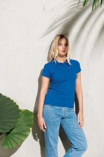 Kariban No Label Organic Damen Kurzarm-Poloshirt