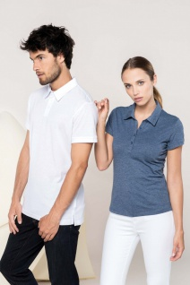 Kariban No Label Herren Kurzarm-Poloshirt